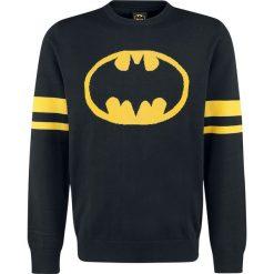 Swetry klasyczne męskie: Batman Logo Sweter czarny