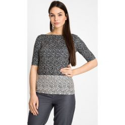 Bluzki damskie: Biało-czarna bluzka we wzór QUIOSQUE