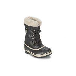Śniegowce Dziecko Sorel  YOOT PAC NYLON. Czarne buty zimowe chłopięce Sorel, z nylonu. Za 297,00 zł.