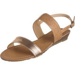 Rzymianki damskie: Sandały w kolorze różowozłotym