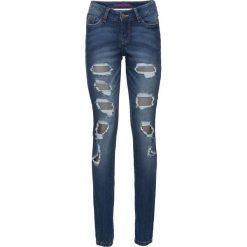 """Dżinsy SKINNY bonprix niebieski """"stone"""". Niebieskie jeansy damskie marki bonprix, z jeansu. Za 149,99 zł."""