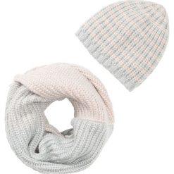 Czapki damskie: Szal i czapka (2 części) bonprix cielisto-szary
