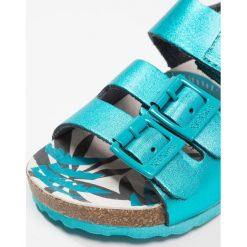 Kickers MAGINATION Sandały turquoise metal. Niebieskie sandały chłopięce marki Kickers, z kauczuku, na sznurówki. Za 249,00 zł.