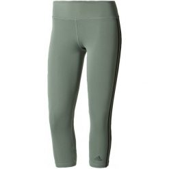 Legginsy damskie do fitnessu: Adidas Legginsy d2m 3S3/4tigh Trace Green /Black S