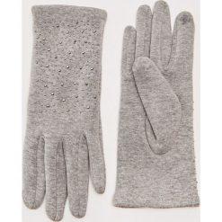 Rękawiczki z ozdobnymi nitami - Jasny szar. Szare rękawiczki damskie marki House. Za 25,99 zł.