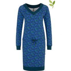 """Sukienki dzianinowe: Sukienka """"Helis"""" w kolorze niebieskim"""