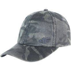 Czapka męska CAM207 - multikolor. Szare czapki z daszkiem męskie marki 4f, w paski, z materiału. Za 49,99 zł.