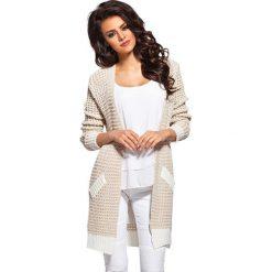 Odzież damska: Sweter w kolorze beżowo-kremowym