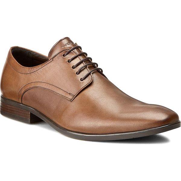 be51f1bf Półbuty WOJAS - 6060-52 C.Brąz - Pomarańczowe buty wizytowe męskie ...