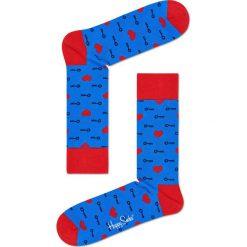 Happy Socks - Skarpetki Key To My Heart. Szare skarpetki męskie Happy Socks, z bawełny. W wyprzedaży za 29,90 zł.