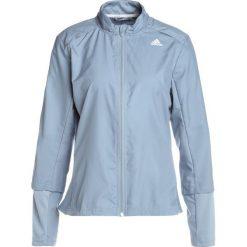 Adidas Performance RESPONSE WIND Kurtka do biegania rawgre. Zielone kurtki sportowe damskie adidas Performance, xl, z materiału. W wyprzedaży za 139,30 zł.