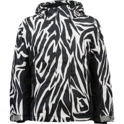 """Kurtka narciarska """"Madison"""" w kolorze czarno-białym. Białe kurtki dziewczęce przeciwdeszczowe marki 4F JUNIOR, na lato, z materiału. W wyprzedaży za 227,95 zł."""