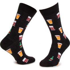 Skarpety Wysokie Męskie DOTS SOCKS - DTS-SX-186-X Czarny Kolorowy. Czarne skarpetki męskie Dots Socks, w kolorowe wzory, z bawełny. Za 19,90 zł.