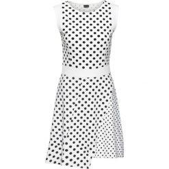 Sukienki: Sukienka z dżerseju w groszki bonprix biało-czarny w groszki