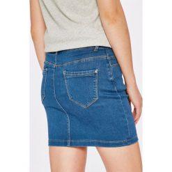 Missguided - Spódnica. Szare minispódniczki marki Missguided, z bawełny, z podwyższonym stanem, dopasowane. W wyprzedaży za 79,90 zł.