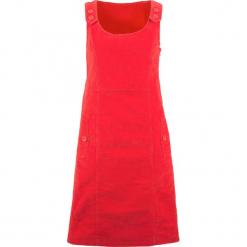 Sukienka sztruksowa bonprix truskawkowy. Czerwone sukienki na komunię bonprix, ze sztruksu, na ramiączkach. Za 109,99 zł.
