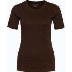 Brookshire - T-shirt damski, brązowy. Czarne t-shirty damskie marki brookshire, m, w paski, z dżerseju. Za 39,95 zł.