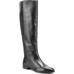 Oficerki VAGABOND - Frances Si 4607-001-20 Black. Czarne buty zimowe damskie marki Vagabond, z materiału, przed kolano, na wysokim obcasie, na obcasie. Za 749,00 zł.