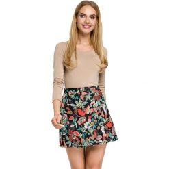 EMMA Spódnica mini z zakładką - kwiatowy. Różowe minispódniczki Moe, w kolorowe wzory. Za 99,00 zł.