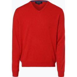 Swetry klasyczne męskie: Andrew James – Sweter męski z czystego kaszmiru, pomarańczowy
