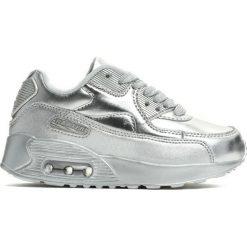 Srebrne Buty Sportowe Packthread. Szare buty sportowe chłopięce marki Born2be, z materiału, z okrągłym noskiem, na sznurówki. Za 59,99 zł.
