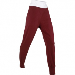 Spodnie alladynki, długie, Level 1 bonprix czerwony kasztanowy. Czerwone bryczesy damskie bonprix, na fitness i siłownię. Za 49,99 zł.