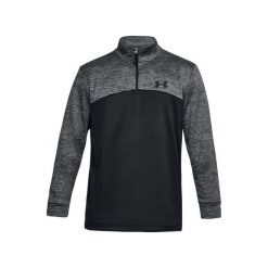 Bluzy męskie: Under Armour Bluza męska Fleece 1/4 Zip czarna szara r. XXL  (1286334-002)