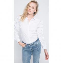 Vero Moda - Koszula. Szare koszule wiązane damskie Vero Moda, l, z bawełny, casualowe, z klasycznym kołnierzykiem, z długim rękawem. W wyprzedaży za 59,90 zł.