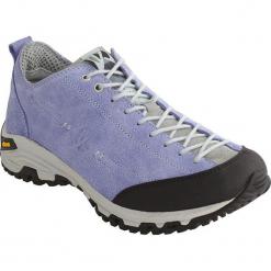 Skórzane buty trekkingowe w kolorze fioletowym. Szare buty trekkingowe damskie marki Marco Tozzi. W wyprzedaży za 318,95 zł.