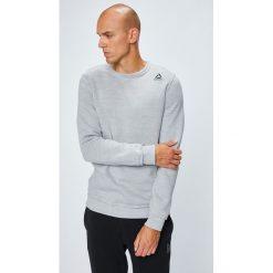 Reebok - Bluza. Szare bluzy męskie rozpinane marki Reebok, l, z dzianiny, z okrągłym kołnierzem. W wyprzedaży za 199,90 zł.