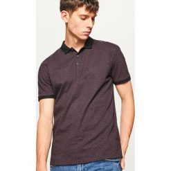 Koszulka polo z mikroprintem - Bordowy. Czerwone koszulki polo marki FOUGANZA, m, z bawełny. W wyprzedaży za 49,99 zł.