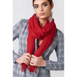 Szaliki damskie: NA-KD Accessories Tkany szalik – Red