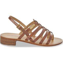 Sandały damskie: Skórzane sandały-japonki Herita