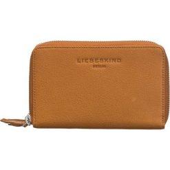"""Portfele damskie: Skórzany portfel """"Gitta OU"""" w kolorze jasnobrązowym - 15,5 x 10 x 3,5 cm"""