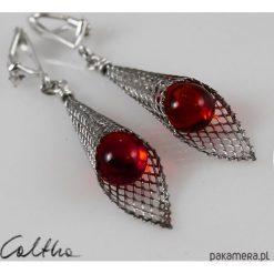 Biżuteria i zegarki: Czerwone w rożku – klipsy