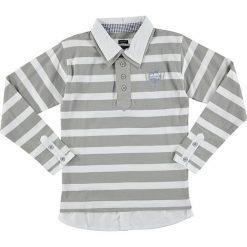 T-shirty chłopięce z długim rękawem: Koszulka polo w kolorze szaro-białym