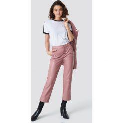 Spodnie damskie: NA-KD Trend Spodnie PU - Pink