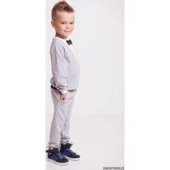 Dresy chłopięce: Spodnie dresowe eleganckie szare