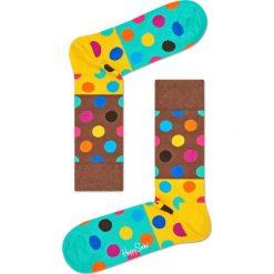 Happy Socks - Skarpety Big Dot Block. Brązowe skarpetki męskie Happy Socks, z bawełny. W wyprzedaży za 29,90 zł.