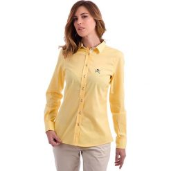 Bluzka w kolorze żółtym. Żółte topy sportowe damskie Polo Club, z haftami, z bawełny. W wyprzedaży za 253,95 zł.