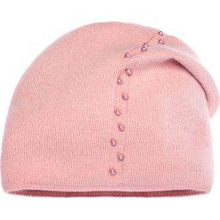 Czapki zimowe damskie: Różowa czapka z perełkami QUIOSQUE