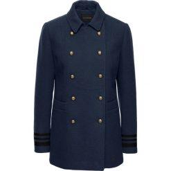 Krótki płaszcz ze złotymi guzikami bonprix ciemnoniebieski. Niebieskie płaszcze damskie bonprix, eleganckie. Za 239,99 zł.