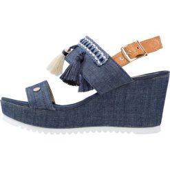 Rzymianki damskie: Cassis côte d'azur BALI Sandały na platformie jeans