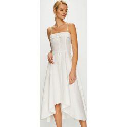 Miss Sixty - Sukienka. Szare sukienki na komunię marki Miss Sixty, na co dzień, l, z bawełny, casualowe, midi, rozkloszowane. W wyprzedaży za 499,90 zł.