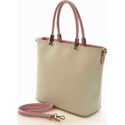 Shopper bag damskie: Torebka shopper bag skóra MAZZINI – Ellen szara marmo