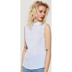 Bluzki asymetryczne: Bluzka koszulowa - Niebieski