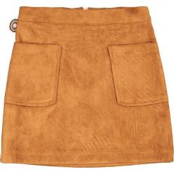 """Spódnica """"Touch The Leather"""" w kolorze jasnobrązowym. Brązowe spódniczki dziewczęce marki 4FunkyFlavours Kids, ze skóry, mini. W wyprzedaży za 102,95 zł."""