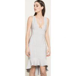 Missguided - Sukienka. Szare sukienki asymetryczne marki Missguided, na co dzień, s, z elastanu, casualowe, z asymetrycznym kołnierzem, midi. W wyprzedaży za 129,90 zł.