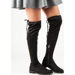 CZARNE KOZAKI NAD KOLANO. Czarne buty zimowe damskie marki BELLO STAR. Za 127,90 zł.