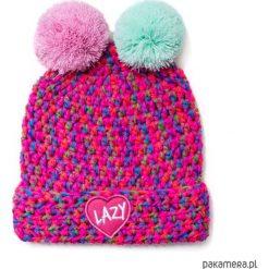Czapki damskie: czapka dziana KRAFF DUO FUN PINK handmade